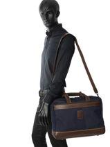 Longchamp Boxford Aktetas Blauw-vue-porte