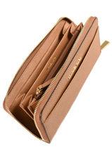 Portefeuille Cuir Michael kors Marron money pieces S7GM9E9L-vue-porte