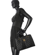 Trapezetas Carrington Leder Lauren ralph lauren Zwart carrington 31678700-vue-porte