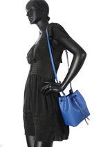 Sac Bandoulière Dryden Cuir Lauren ralph lauren Bleu dryden 31670243-vue-porte