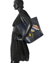 Sac Cabas Th Effortless Tommy hilfiger Multicolore th effortless AW04855-vue-porte