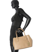 Sac Porté Main New Bury Lauren ralph lauren Beige new bury 31504369-vue-porte