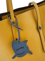 Tasaccessoire Sharky Coach Blauw bag charms 21518-vue-porte