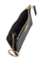 Porte Monnaie Mini Skinny Cuir Coach Bleu wallet 57841-vue-porte