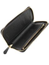 Portefeuille Cuir Coach Noir wallet 58584-vue-porte