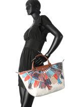 Longchamp Sac porté main Multicolore-vue-porte