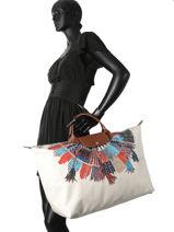Longchamp Sac de voyage Multicolore-vue-porte