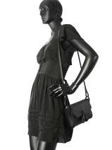 Longchamp Pénélope Sac porté travers Noir-vue-porte