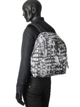 Rugzak Padded Andy Eastpak Zwart andy warhol K620AND-vue-porte