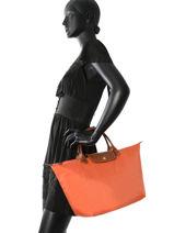 Longchamp Sac porté main Orange-vue-porte