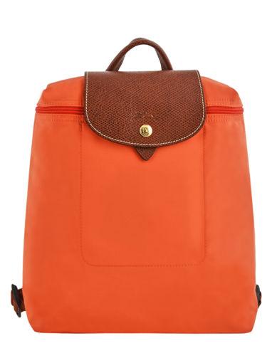 Longchamp Sac à dos Orange