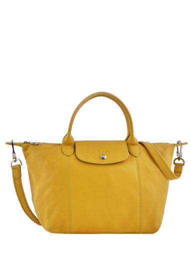 Longchamp Sac porté main Jaune