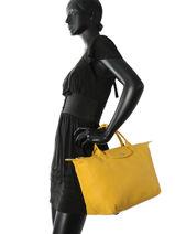 Longchamp Sac porté main Jaune-vue-porte
