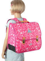 Cartable 2 Compartiments Poids plume Rose be all over color PCO15417-vue-porte