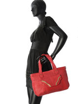 Sac Shopping  Imsa Cuir Pieces Rouge imsa 17087078-vue-porte