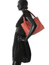 Sac Shopping Kyo Fantaisie Cuir Etrier Rose kyo fantaisie EKY602PF-vue-porte