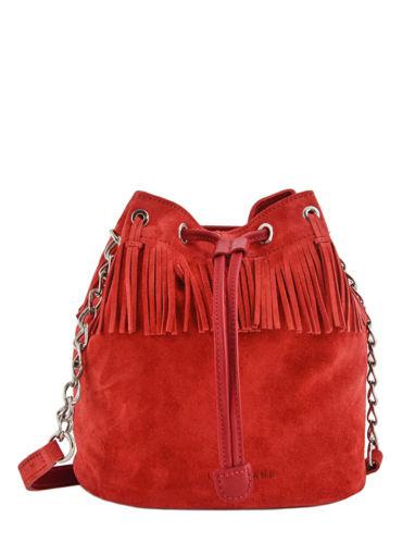 Longchamp Sac porté travers Rouge