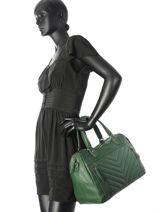 Sac Shopping Panama Cuir Nat et nin Vert vintage PANAMA-vue-porte
