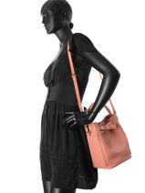 Bucket Bag Vintage Leder Nat et nin Roze vintage SIXTINE-vue-porte