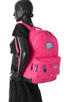 Sac à Dos 1 Compartiment Superdry Rose backpack woomen G91001DQ-vue-porte