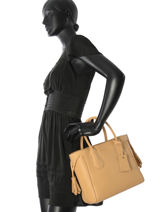 Longchamp Sac porté main Beige-vue-porte