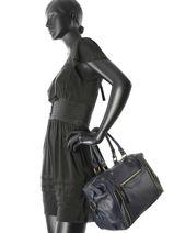 Sac Shopping Sauvage Cuir Milano Bleu sauvage SA160615-vue-porte