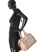Sac Shopping Sauvage Cuir Milano Rose sauvage SA160615-vue-porte