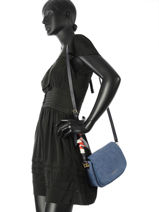 Sac Bandoulière Iconic Foulard Tommy hilfiger Bleu iconic foulard AW04961-vue-porte