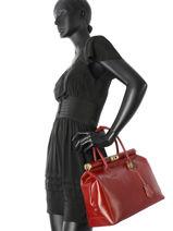 Sac Porté Main Collet Cuir Milano Rouge collet CO17111-vue-porte