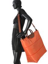 Longchamp Sac de voyage Orange-vue-porte