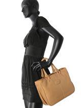 Longchamp Sac porté main Marron-vue-porte