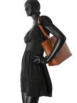 Sac Shopping Carla Woomen Marron carla WCAR03-vue-porte