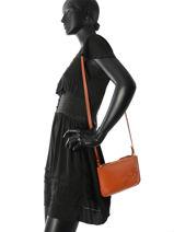 Longchamp Sac porté travers Orange-vue-porte