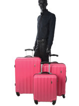 Lot De Valises Barcelone Travel Rose barcelone 1412-LOT-vue-porte