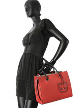 Sac Porté Main K Karry All Cuir Karl lagerfeld Rouge k karry all 81KW3104-vue-porte
