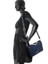 Sac Cartable Klassik Cuir Karl lagerfeld Bleu klassik COKW0012-vue-porte