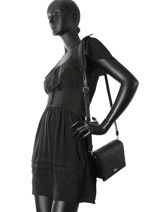 Sac Bandouliere K Signature All Over Karl lagerfeld Noir k signature all over 81KW3119-vue-porte