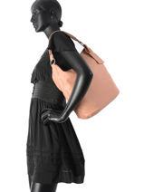 Schoudertas Connected Leder Cowboysbag Roze connected 2017-vue-porte