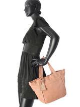 Handtas Connected Leder Cowboysbag Roze connected 2018-vue-porte