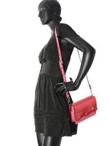 Sac Bandouliere K Signature Cuir Karl lagerfeld Rose k signature 81KW3053-vue-porte