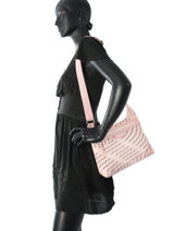 Longchamp Sac porté travers Rose-vue-porte