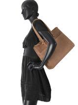 Sac Shopping Flow Fem Burkely Marron flow fem 35129-vue-porte