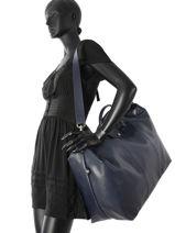 Longchamp Le foulonné Sac de voyage Bleu-vue-porte
