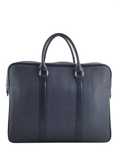 Longchamp Aktetas Blauw