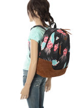 Sac à Dos 1 Compartiment Roxy Multicolore backpack RJBP3680-vue-porte
