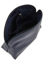 Longchamp Le foulonné Trousse de toilette Bleu-vue-porte