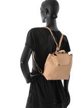 Longchamp Sac à dos Beige-vue-porte