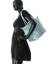 Longchamp Besace Bleu-vue-porte