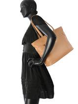 Longchamp Besace Beige-vue-porte