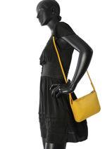 Longchamp Sac porté travers Jaune-vue-porte